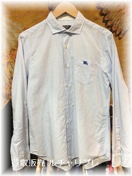 バーバリー ブラックレーベル  麻混 ボタンシャツ