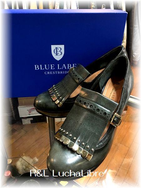 BLUE LABEL CRESTBRIDGE ブルーレーベル クレストブリッジ レザーパンプス