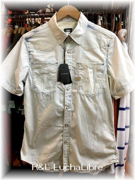 G-STAR RAW ジースター A CROTCH YOSHEM WORK SHIRT 半袖シャツ