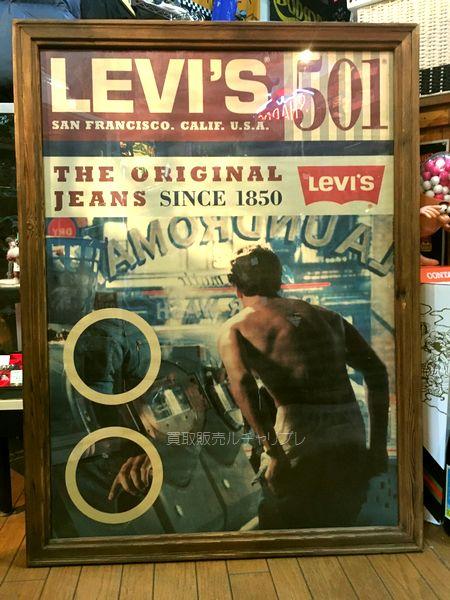 Levi's リーバイス501 額入り 販売促進用ポスター