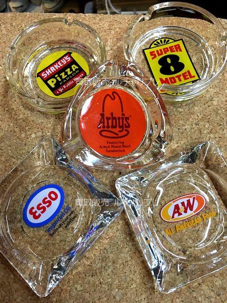 ヴィンテージ Glass Ashtray ガラスアシュトレイ 灰皿