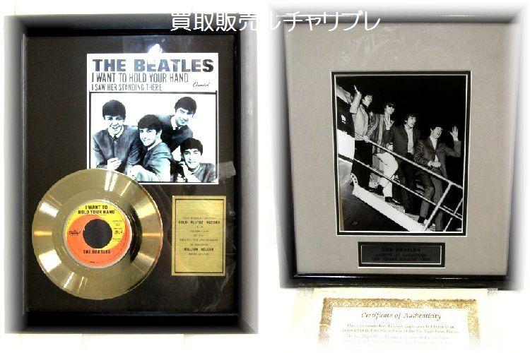 ビートルズ のフォトフレームとゴールドディスクフレーム