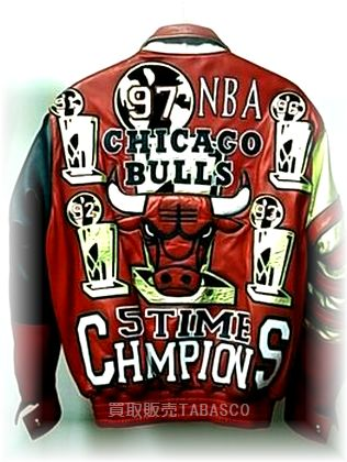 NBA CHICAGO BULLS 97年優勝記念レザージャケット